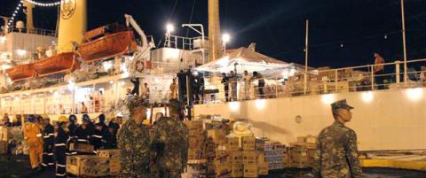 I kveld g�r Rederiforbundets skip i havn i Tacloban med massivt vakthold