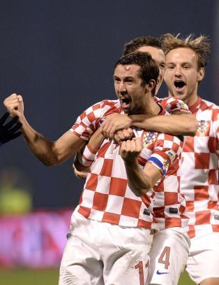 Kroatia tok seg til VM med ti mann p� banen