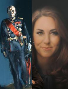 Her er de kongelige portrettene som fikk flere til � se r�dt