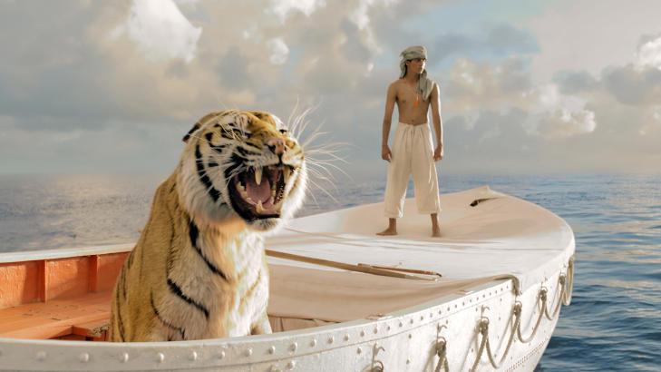 HOLDT PÅ Å DRUKNE: Tigeren King som medvirket i suksessfilmen «Historien om Pi» holdt på å drukne under innspillingen. Foto: Scanpix