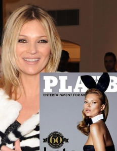 Her er Kate Moss sitt Playboy-cover