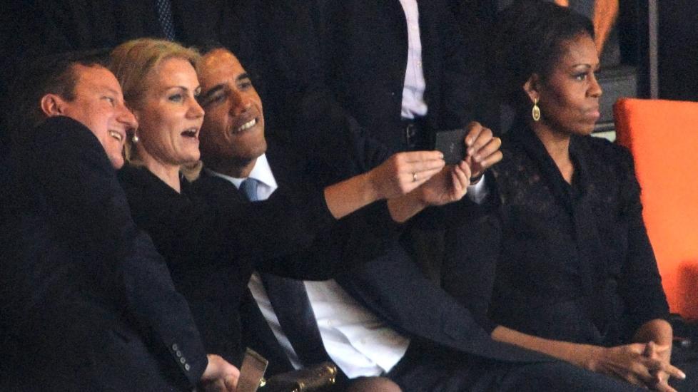 Her tar Danmarks statsminister «selfie» med Obama og Cameron - nyheter - Dagbladet.no