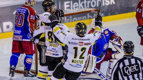 SERIETOER:  Stavanger Oilers og Mostue er nummer to i Get-ligaen. Foto: Stian Lysberg Solum / NTB scanpix