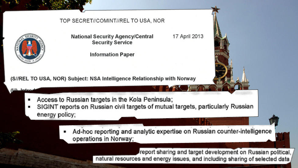 TOP SECRET: This NSA document is dated April 17th. It reveals a close cooperation between the NSA and the NIS on surveillance of Russia.