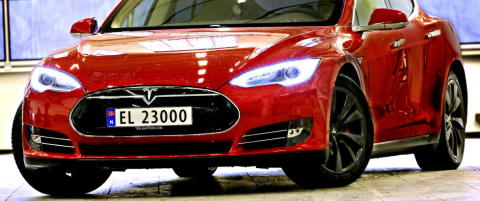 Tesla-omsetning til himmels: �kte med over 5000 prosent i Norge