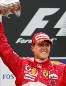 Tysk tv viste hyllest fra Schumacher samtidig som han kjemper for livet