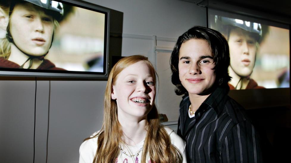 UNG DEBUT:  Maiken Kolle Riskild og Michael Hansson debuterte som skuespillere tidlig. Her var Kolle Riskild 12 �r, og Hansson 14.    Foto: Hans A Vedlog / Dagbladet