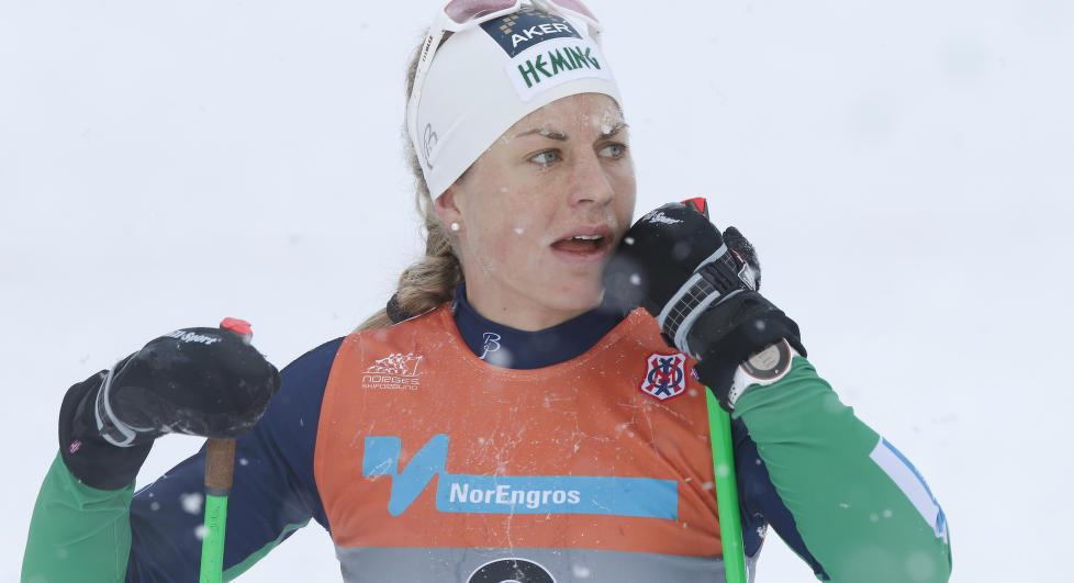 MISTET BROREN: Langrennsl�pere Astrid Uhrenhold Jacobsen fikk i dag beskjed om at broren har mistet livet. Foto: Terje Bendiksby / NTB scanpix