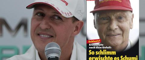 �Eksklusivt! Det f�rste bildet etter ulykken. S� hardt rammet er Schumacher�