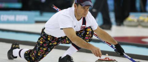Sjekk curling-guttas siste buksestunt. Stjal showet p� g�rsdagens trening