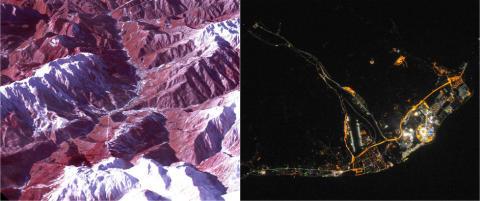 Slik ser OL-byen ut fra verdensrommet