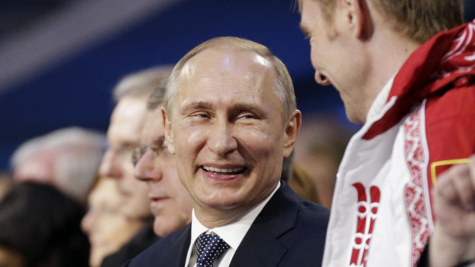 Fornøyd Vladimir Putin.