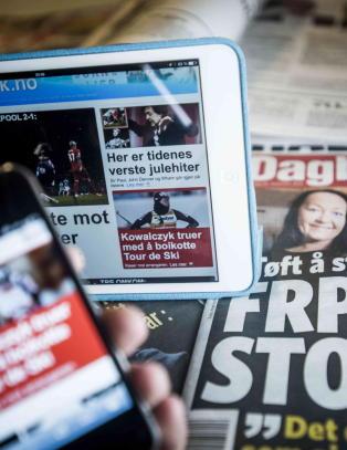 Avisenes opplag synker, men mediepolitikken st�r stille