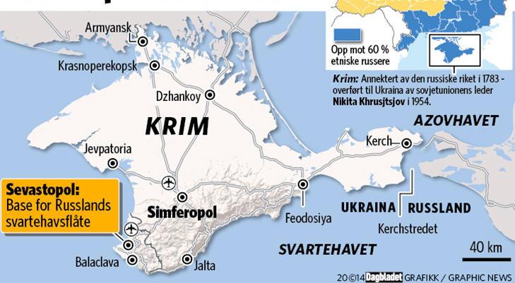 kart over ukraina og krim halvøya Krim Halvøya kart over ukraina og krim halvøya
