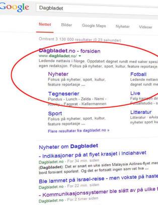 Ser du hva som er litt annerledes med Google?