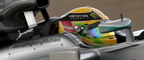 Motorstjernenes personlige hilsen til Schumacher