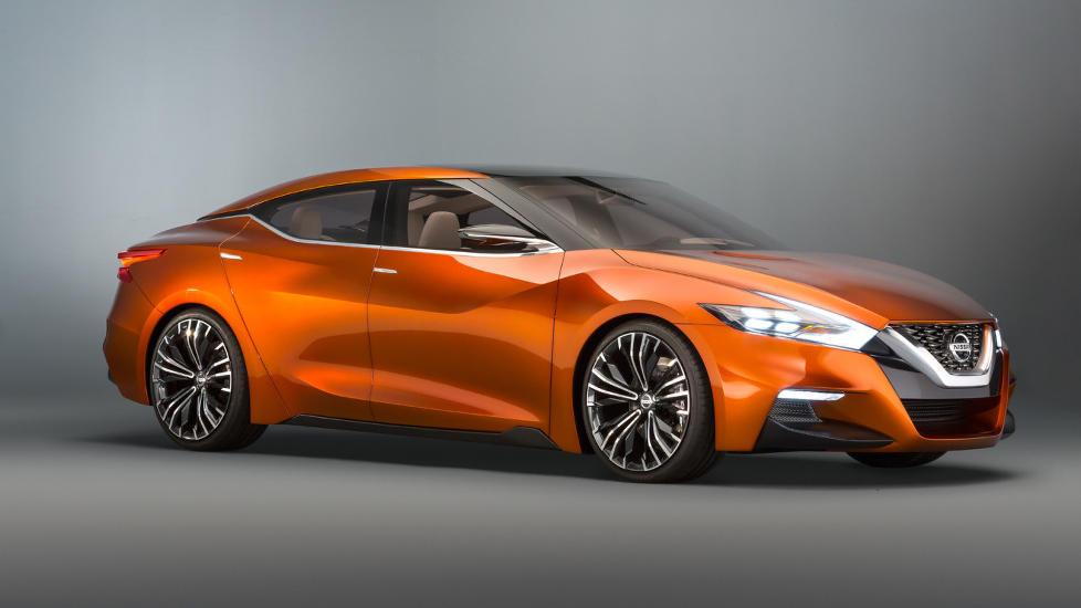 TESLA-INSPIRERT? Det er selvsagt spekulasjon fra v�r side, men i og med at Nissan (med partner) er verdens st�rste elbilprodusent, er det naturlig � tenke seg at de vil bygge p� produktrekka med en st�rre modell enn Leaf. Foto: NISSAN