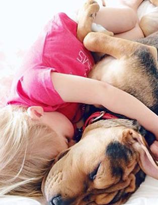 Sover fremdeles nese mot snute. S�tere enn noensinne!