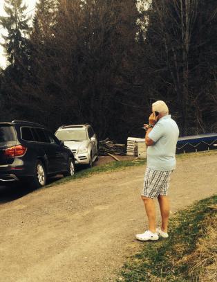 Her har Per Otto (69) tilfeldig funnet sin stj�lne bil - langt fra allfarvei, p� et sted han aldri har v�rt f�r