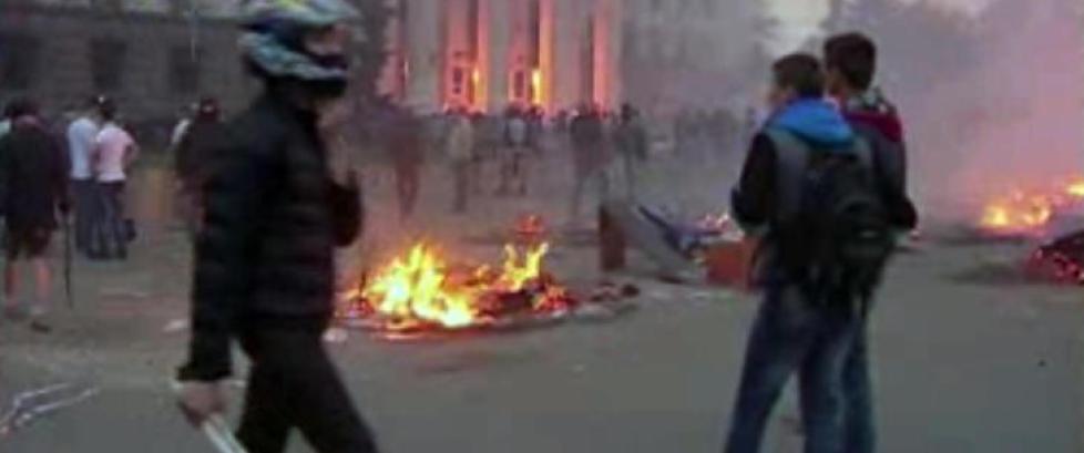 Over 130 p�grepet i etter gatekampene i Odessa