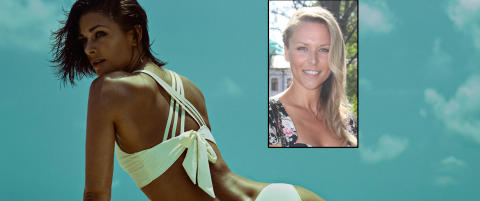 Vier 18 sider til venninnens bikinikolleksjon  i nytt nummer
