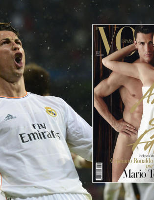 Ronaldo splitter naken på forsida av Vogue