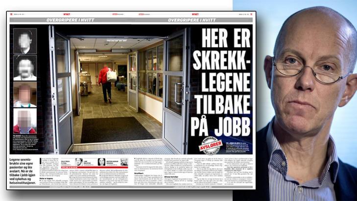 GA NYE LEGEAUTORISASJONER: Helsetilsynet, her ved direktør Jan-Fredrik Andresen, har gitt flere leger tilbake autorisasjonene  sine, etter at de først mistet dem for seksuelle overgrep. Helspersonelloven vedtatt av Stortinget gir denne muligheten. Foto: Øistein Norum Monsen/Dagbladet