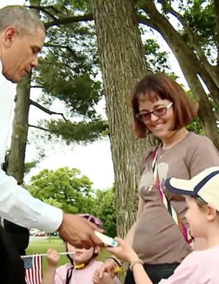 Obama: - Jeg er ekte vare, ingen voksfigur