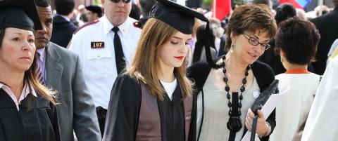 Denne �studievenninen� fulgte Emma Watson hvor enn hun gikk