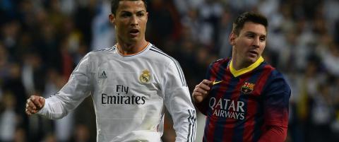 Her sl�r du Messi ned i st�vlene, Ronaldo