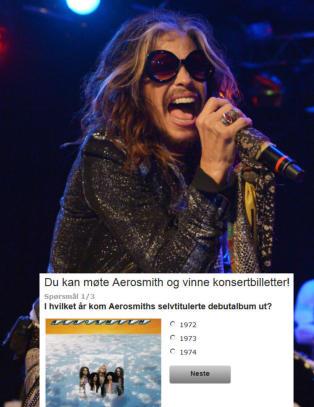 Ta v�r enkle Aerosmith-quiz og vinn stjernetreff med Steven Tyler & co.