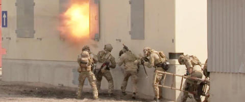 Her trener marinejegerne for f�rste gang p� sin nye terrorberedskap