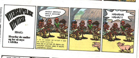 - Denne tegneserien skulle aldri v�rt satt p� trykk