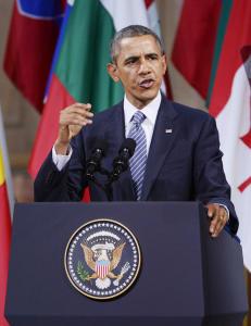 Obama ble snikfilmet p� treningsstudio