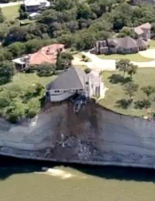 H�rte �jordskjelv�. S� begynte huset � rase utfor klippe