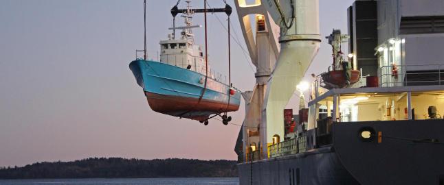 Norske krigsskip havnet i Nigeria