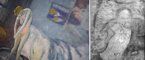 Eksperter har avsl�rt skjult motiv av en mystisk mann i et av Picassos malerier