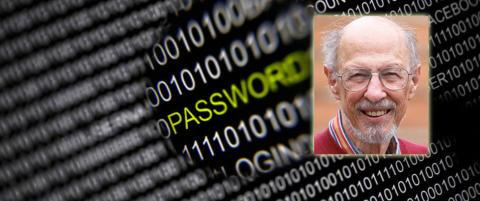 Mannen som fant opp passordet skriver selv ned passordene sine p� en lapp