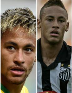 Neymars skiftende h�rfrisyrer: Kr�llete, rettet, blondt og brunt