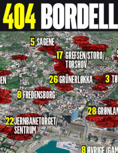 Politiet avsl�rte og stengte 404 hemmelige Oslo-bordeller