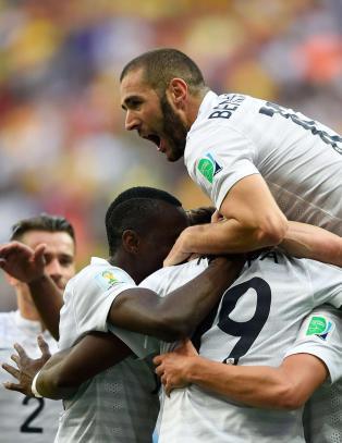 Tolv effektive minutter s�rget for kvartfinalebillett for Frankrike