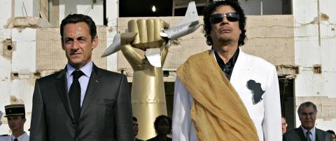 Penger fra Kadhafi kan knekke Sarkozy
