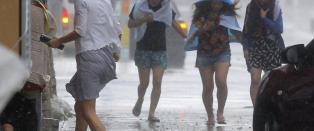 Japan forbereder seg p� voldsom tyfon