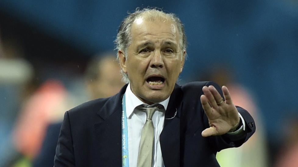 Argentina-treneren i natt.