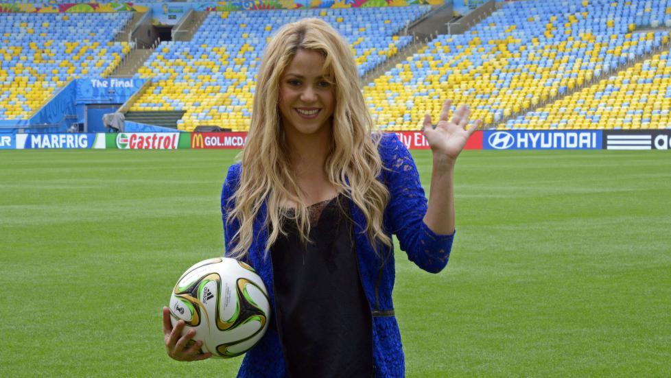Shakira før finalen.