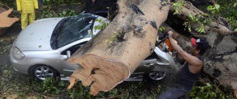 Tyfon tok minst 38 liv p� Filippinene