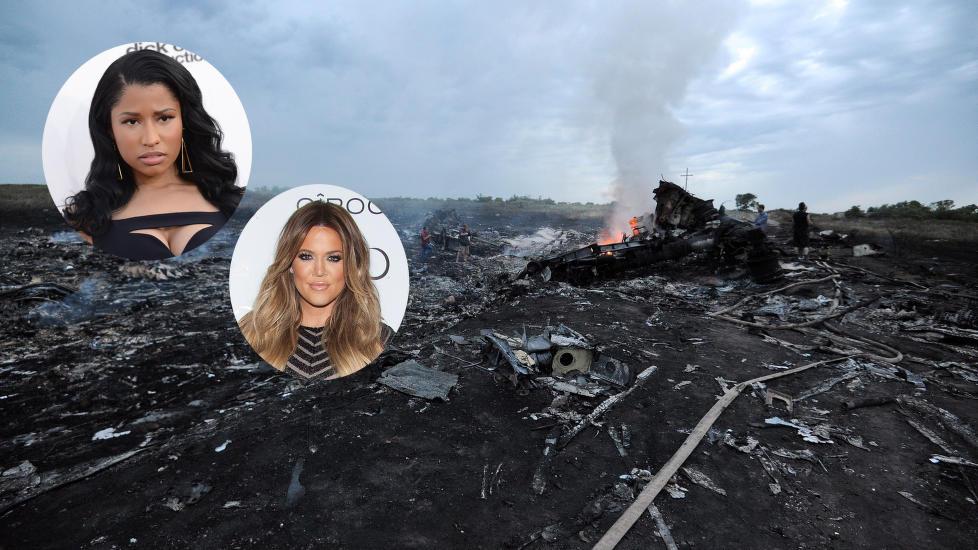Kjendisenes reaksjoner på Malaysia Airlines-tragedien.