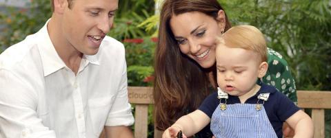 Den britiske prinsen feirer sitt f�rste �r