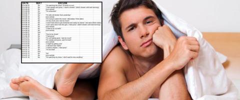 Mann skal ha loggf�rt kj�restens unnskyldninger for � ikke ha sex i et Excel-dokument
