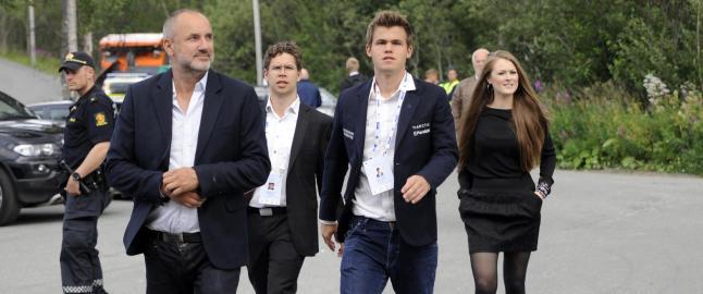 Carlsen OL-debuterer mot finsk overmann